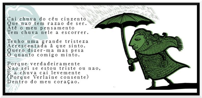 Rain falls from the grey sky. by Velica