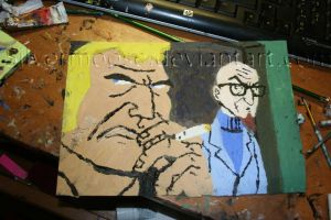 Venture Bros Brock and Rusty by Silvermoose
