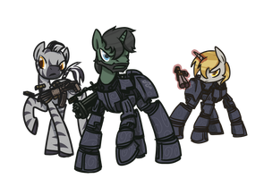 COMMISSION: The Rangers of Wintertrot by InLucidReverie