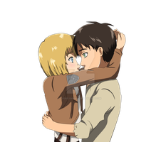 I won't lose you again... Eren and Armin by odieluvnikki