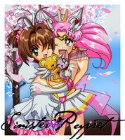 CCS and Sailor Chibi Moon Crossover by sinister-puppet