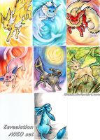 Eeveelution ACEOs by Khezix