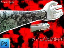 tattoo of my hand by amit55