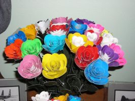 Duct tape roses by ducttapetom
