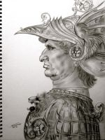 Drawing of a Warrior by Noosha77