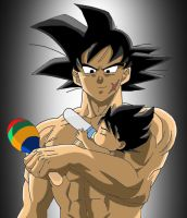 Bardock and Baby Vegeta by DarkAngelxVegeta