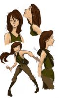 Katniss Everdeen Studies by Ratgirlstudios