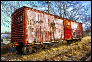 Abandoned Boxcar HDR by DJBIG