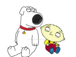 Brian  and Stewie by puccaandgaru1234