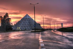 pyramid sunset - Tychy by shade-pl