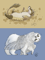 009 and 022 - Creatures by twapa