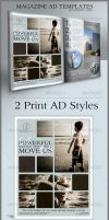 Print Ad Templates and Layouts by CursiveQ-Designs
