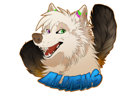 Commission Head Badge - Alueus by Kairi292