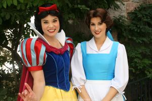 Snow White and Belle by DisneyLizzi