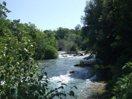Lovely River From A Waterfall by MeghansDreamDesigns