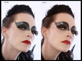 Black Swan Before And After by DerekEmmons