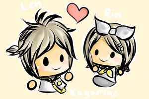 Rin and Len Kagamine by chocomax