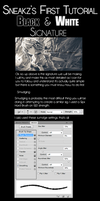 Black and White Tutorial by ssneakzz