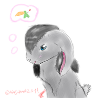 Tina as a rabbit request by Varjokani