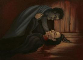 Severus Snape and Harry Potter by MrsGraves