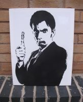 David Tennant - Stencil on Canvas by RAMART79