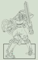 40k Imperial knight Errant girl by imric1251