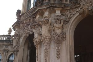 Satyrs on a portal by almudena-stock