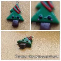 Christmas Tree Kawaii Charm by Creative-4ever