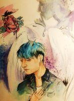 White wings (sketch with Tao from EXO) by Mizecki