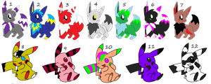 Cheap Pokemon Adopts 8D by Horses774