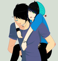 I do love piggy back rides.... by CircusCannibal