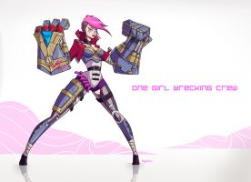 Vi - League of Legends by Dunjochka