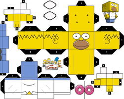 Homer Simpsons cubeecraft by JagaMen