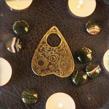 Ouija Pin for Spirit Board Gothic Occult brass by TimforShade