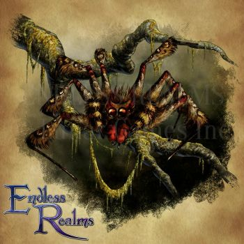 Endless Realms bestiary - Leopard Spider by jocarra