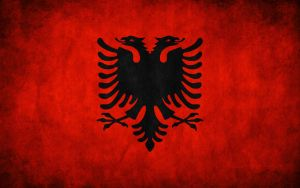 Albania Grunge Flag by think0