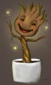Baby Groot by Ginnypigg