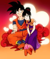 goku n Chichi by YK-DGB