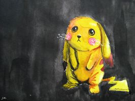 Sad Pikachu by liza23q