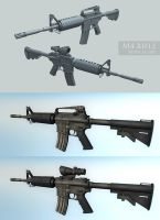 M4 rifle + scope by floydworx