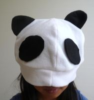Panda Fleece Hat by kyra10987