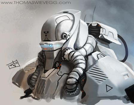Robot scribble by thomaswievegg