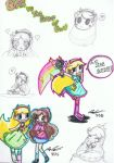 Chibi Star Vs the Forces of Evil Skecth Dump by KingofBeastsGrimmjow