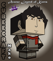 3D view Cubeecraft Mako Avatar The Legend of Korra by SKGaleana