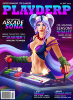 Playderp Mag #6 Arcade Sona by martaino