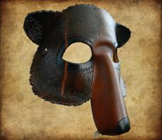 Leather Bear Mask with Scar by ContessaEsselia
