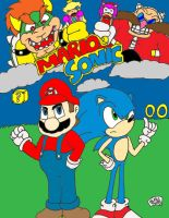 Mario and Sonic by SlySonic