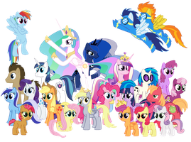 A whole ton of ponies by Kops-the-Jidiot