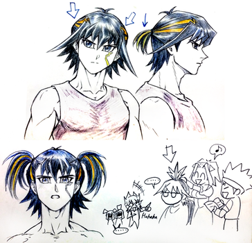 Yusei wants to look NORMAL by Ycajal