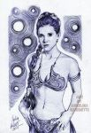 Princess Leia Ballpoint Pen by AngelinaBenedetti